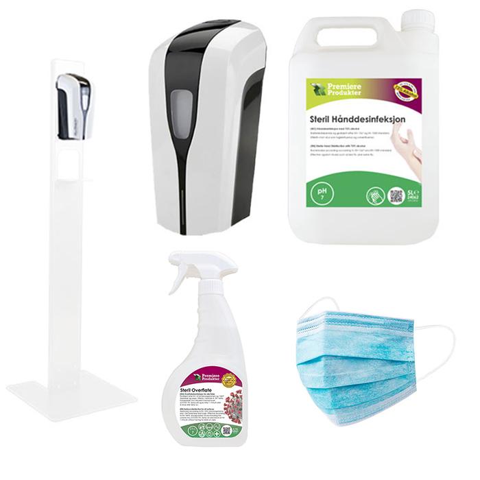 Hygieneprodukter og desinfeksjon produkter