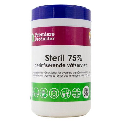 Steril desifisernde våtserviett, sterile våtservitter i boks